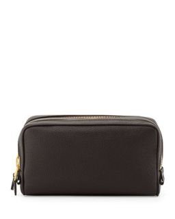 Mens Double Zip Travel Kit, Brown   Tom Ford   Brown