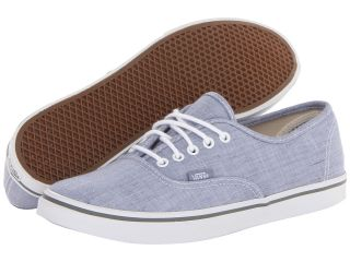 Vans Authentic Lo Pro Blue/True White) Skate Shoes (Blue)