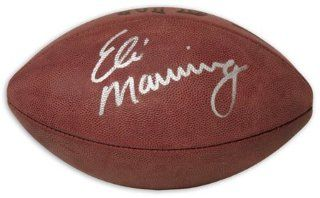 Eli Manning Autographed Football  Sports Related Collectibles  Sports & Outdoors