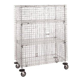 "Metro SEC66EC Mobile Standard Duty Wire Security Cabinet   65"" x 33 1/2"" x 68 1/2""   Kitchen Products"