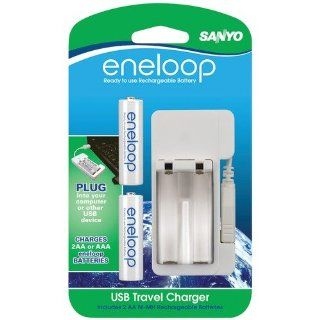 SANYO SEC MDU012AAN ENELOOP USB CHARGER WITH 2 AA BLISTER CARD BATTERIES SANYO SEC MDU012AAN ENELOO Camera & Photo