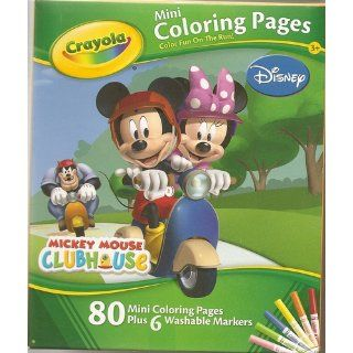 Disney Mickey Mouse Clubhouse Mini Coloring Pages (Design Varies) Toys & Games
