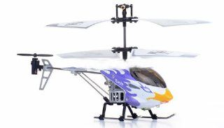 3 Channel Mini Indoor Infrared Phoenix Metal Helicopter w/ Built in Gyro (ASSORTED COLORS SENT AT RANDOM) Sports & Outdoors