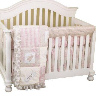 Cotton Tale Designs Front Crib Rail Cover Up Set, Heaven Sent Girl  Crib Bumpers  Baby