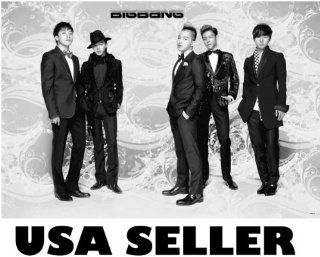 Big Bang standing horiz b&w POSTER 34 x 23.5 Bigbang Top T.O.P. G Dragon Tae Yang Korean K pop boy band (poster sent from USA in PVC pipe)  Prints