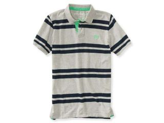 Aeropostale Mens Striped Rugby Polo Shirt 629 S