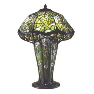 Dale Tiffany Floral Cobweb 25 in. Solid Bronze Table Lamp  0027
