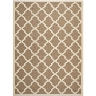 Safavieh Indoor/ Outdoor Courtyard Brown/ Bone Area Rug (9 x 12)
