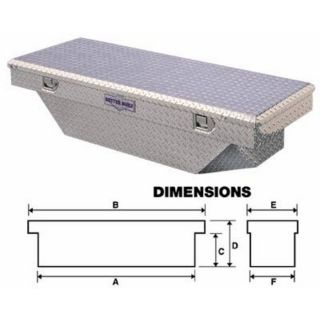 Better Built Aluminum Single-Lid Crossbed Truck Box — Diamond Plate, 56in. x 67in. x 8 3/8in. x 13in. x 20in., Fits Toyota Trucks, Model# CRN67SLPI  Crossbed Boxes