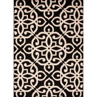 Home Decorators Collection Handmade Black Ink 2 ft. x 3 ft. 7 in. Geometric Accent Rug RUG121639