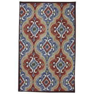 Mohawk Home Mystic Ikat 8 ft. x 10 ft. Outdoor Printed Patio Area Rug 379841
