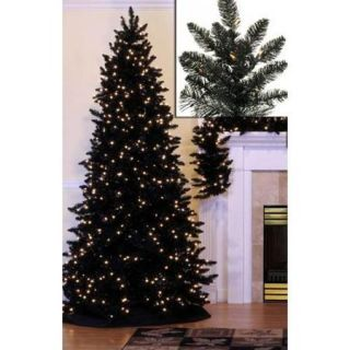 14' Pre Lit Slim Black Ashley Spruce Artificial Christmas Tree   Clear Lights