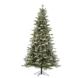 Vickerman 7.5 Frosted Balsam Fir with 750 LED 6 Color Multi Italian
