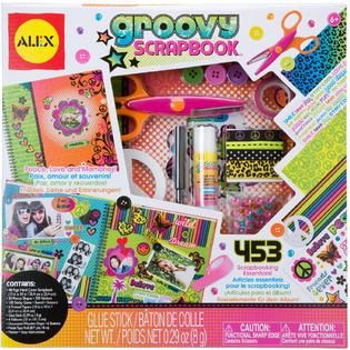 Alex Toys Poof Slinky Groovy Scrapbook Craft Kit   Toys & Games   Arts