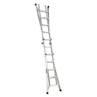 Werner 22 ft. Aluminum Telescoping Multi position Ladder with 300 lb. Load Capacity Type IA Duty Rating MT 22