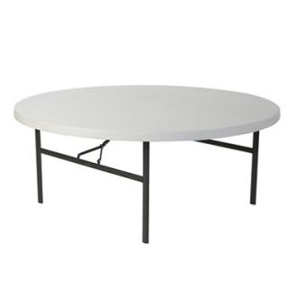Lifetime 72 Round Commercial Grade Folding Table, White Granite (Select Quantity)