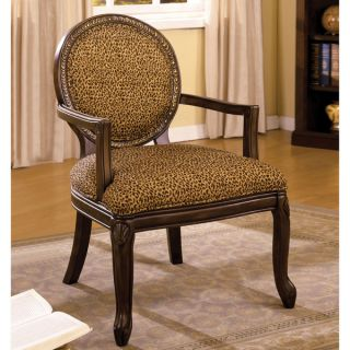 Furniture of America Liona Leopard Print Accent Chair