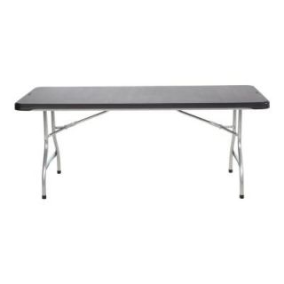 Lifetime 6 ft. Black Commercial Stacking Folding Table (26 Pack) 880350