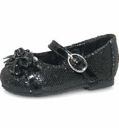 Baby Girl Black Glitter Dress Fashion Shoes  ™ Shopping