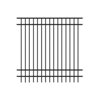 Veranda Natural Reflections Standard Duty 6 ft. H x 6 ft. W Black Aluminum Pre Assembled Fence Panel 73002350