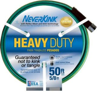 Neverkink 5/8 in. Dia x 50 ft. Heavy Duty Water Hose 8605 50