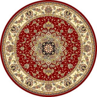 Safavieh Lyndhurst Collection Red/ Ivory Rug (5 3 Round)