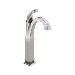 Delta 751T SS DST Dryden Single Handle Vessel Lavatory Faucet w/Touch20.Xt Technology   Stainless Steel