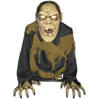 2' Tall Bilious Zombie Animated Fog Halloween Prop