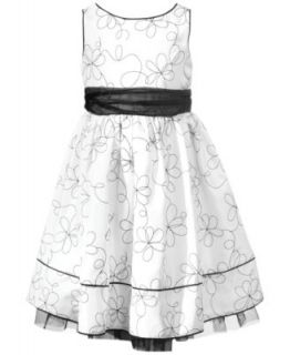 Jayne Copeland Little Girls Embroidered Floral Dress