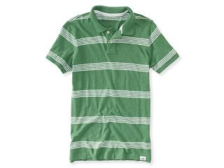 Aeropostale Mens Striped Rugby Polo Shirt 591 XS