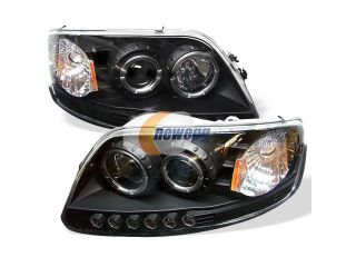 Spyder Auto Ford F150 97 03 / Expedition 97 02 ( Will Not Fit Anything Before Manu. Date June 1997 ) 1PC Halo LED ( Replaceable LEDs ) Projector Headlights   Black PRO YD FF15097 1P AM BK