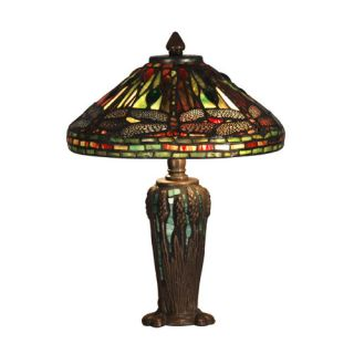 Dale Tiffany Dragonfly Jewel Tiffany 13.5 H Table Lamp with Empire