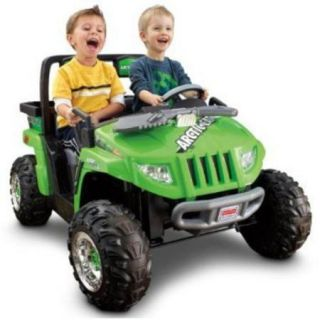 Fisher Price Power Wheels Arctic Cat ATV Battery Powered Riding Toy   Green