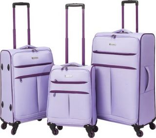 TPRC Transcend 3 Piece Two Toned Spinner Luggage Set   Lavender/Purple