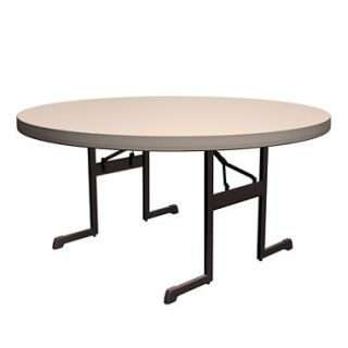 Lifetime 60 Round Professional Grade Folding Table, Putty