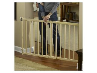 GMI 13 480 10 GuardMaster III 480 Tall Wide Wood Slat Swing Gate   Top Of Stairs Rated