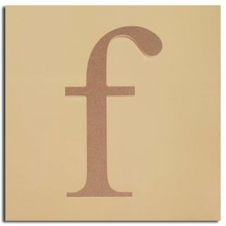 "Pack of 2 Decorative Expressive Unfinished Wood Lower Case Letter ""f"""