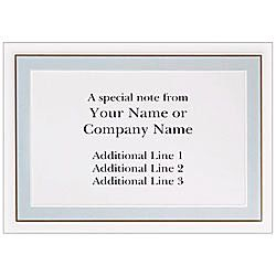 Custom Printed Stationery Note Cards 4 78 x 3 38  Moss Mocha Border Folded White Matte Box Of 25