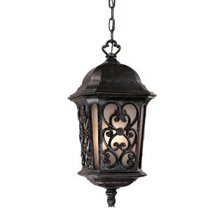 Manorgate Collection Hanging Lantern 4 Light Outdoor Marbleized