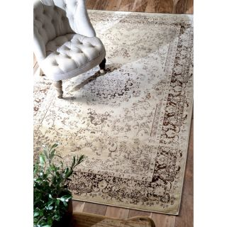 nuLOOM Oriental Vintage Viscose Traditional Brown Rug (52 x 8