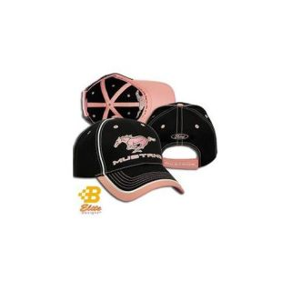 Brickels Racing Collectibles Ladies Ford Mustang Pony Black & Pink Hat  BDFMEH166