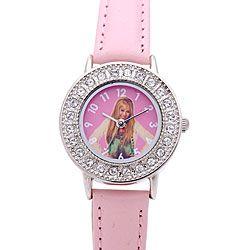Disney Brisa Hannah Montana Girls Pink Leather Watch