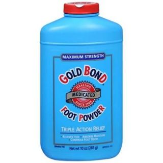Gold Bond Foot Powder Medicated Maximum Strength 10 oz (Pack of 2)