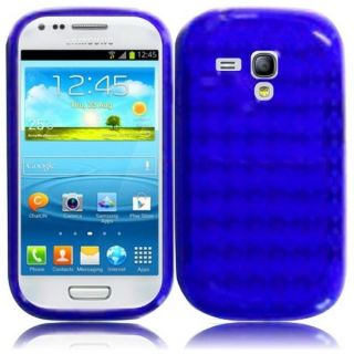 INSTEN Premium Blue TPU Rubber Candy Skin Phone Case Cover for Samsung
