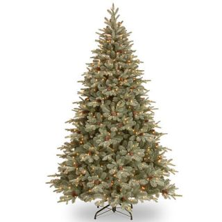 7.5 Foot Frosted Arctic Spruce Tree with Clear Lights    National Tree Company