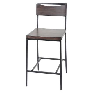 Columbus 26 Counter Stool Metal/Black Cherry Wood   Fashion Bed Group