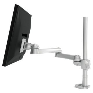 HON Silver Single Monitor Arm, Grommet Mount, 17 1/2 lb. Weight Capacity   Computer Monitor Arms   22XV48|HON5200