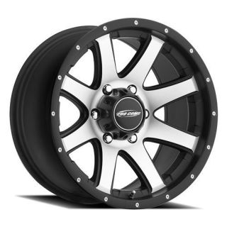 Pro Comp Alloy Wheels   Series 86, 17x9 with 6 on 5.5 Bolt Pattern   Machined with Black Trim
