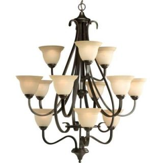 Progress Lighting Torino Collection 12 Light Forged Bronze Chandelier P4419 77
