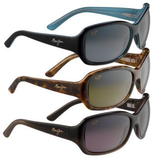 Maui Jim Pearl City Sunglasses   Black and Blue Frame/Neutral Grey Lens
